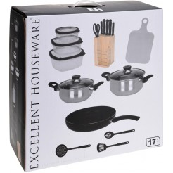 Excellent Houseware Keukenset 17 delig