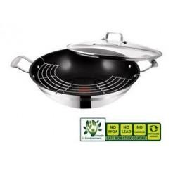Tefal E87396 Jamie Oliver Stainless Steel Wok/Wadjan 32 cm