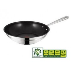Tefal E85919  Jamie Oliver Stainless Steel Wokpan 28 cm
